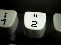 Number two key on vintage typewriter Royalty Free Stock Photography