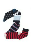 Number two. Made from different colours of socks. Socks in lines on white background Royalty Free Stock Image