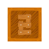 Number two made from wooden boards. For your design Royalty Free Illustration