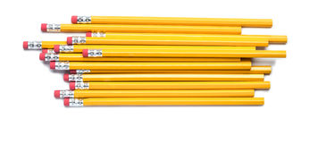 Number Two Pencils. On White Royalty Free Stock Photography