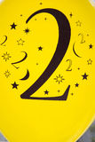 Number two printed in black Royalty Free Stock Photos