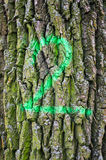 Number two tree bark Stock Photo