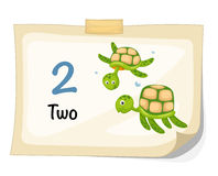 Number two turtle vector Royalty Free Stock Photography