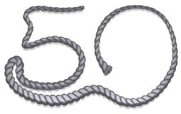 Number 50 uploaded gray rope Stock Images