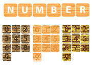 Number wood Stock Photo