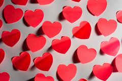 Number of Valentine´s hearts Stock Photos