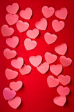 Number of Valentine´s hearts Royalty Free Stock Photo