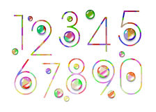 Number vector design symbol numeral school Royalty Free Stock Image