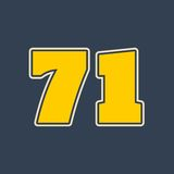 71 number vector illustration. Classic style Sport Team font Royalty Free Stock Photography