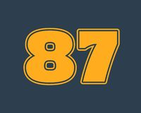 87 number vector illustration. Stock Photos