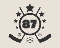 87 number vector illustration. Stock Images