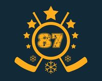 87 number vector illustration. Stock Image