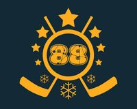 88 number vector illustration. Stock Photo