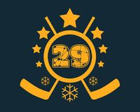29 number vector illustration. Stock Photography