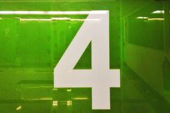 Number 4 wall. Design Royalty Free Stock Image