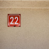Number 22 on a wall Stock Photo