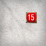 Number 15 on a wall Stock Photography