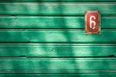 Number 6 on a wall Stock Photography