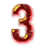 Number 3  on white background Royalty Free Stock Image