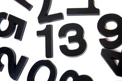 13 number in white background Stock Image