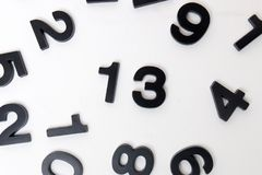 13 number in white background Stock Images