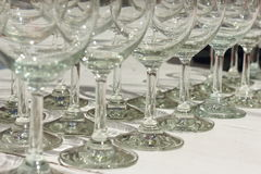 Number of wine glasses Stock Photography