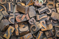 Number wood type blocks background Royalty Free Stock Image
