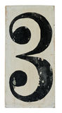 Number on wooden panel Royalty Free Stock Images