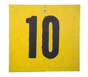 Number on wooden plate Stock Photo