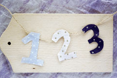 Number on wooden Stock Images
