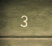 Number 3 Stock Image