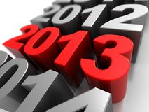 Number of years. 3d illustration, calendar symbol with number 2012,2013, 2014 Stock Photography