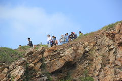 A number of Young outdoor lovers in GUANGDONG CHINA  ASIA Royalty Free Stock Photography