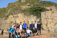 A number of Young outdoor lovers in GUANGDONG CHINA  ASIA Stock Images