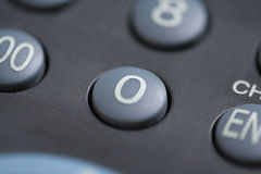 Number zero button Stock Image