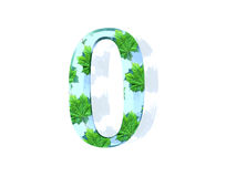 Number zero with leaf theme Royalty Free Stock Photos