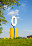 Number zero sculpture. At the Malta park in Poznan, Poland Stock Images
