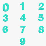 Number zero to nine. Number zero to nine with thick vector Stock Photos