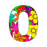 Number zero. On a white background Royalty Free Stock Images