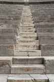 Numbered  Ancient Theater Staircase and Row of Seats. Orange Royalty Free Stock Images