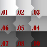 Numbered Background Stock Photo