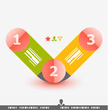 Numbered banner design template Stock Images