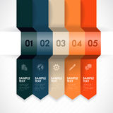 Infographic Element. Numbered banner design template for info graphic, website, advertisement, etc Royalty Free Stock Images