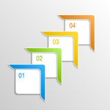 Numbered banners Royalty Free Stock Photography