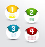 Numbered banners Stock Images