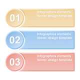 Numbered banners. Design templates Stock Photography