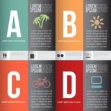 Numbered banners vector illustration