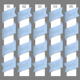 Numbered banners in origami style Stock Image