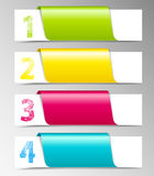 Numbered banners Stock Photo