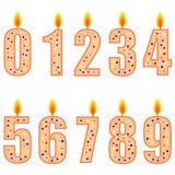 Numbered birthday candles Royalty Free Stock Photography